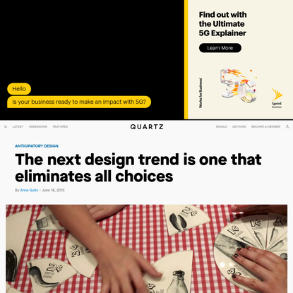 The next design trend is one that eliminates all choices