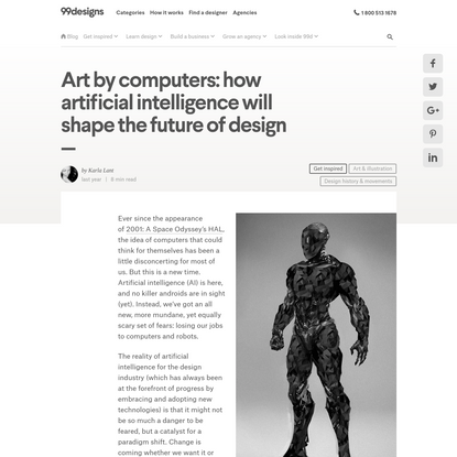 Art by computers: artificial intelligence and design