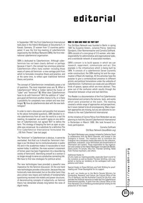 First Cyberfeminist International, Reader, 1997