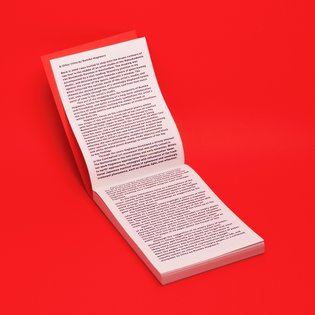 Red in red. Artist book/notebook for japanese artist Rumiko Hagiwara in collaboration with Jeanine Hofland. Get a copy at ww...