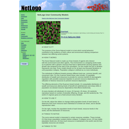 NetLogo User Community Models: