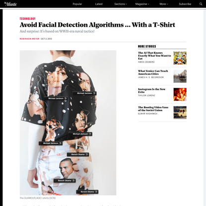 Avoid Facial Detection Algorithms ... With a T-Shirt