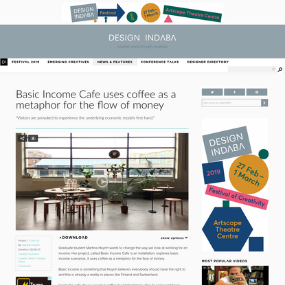 Basic Income Cafe uses coffee as a metaphor for the flow of money | Design Indaba