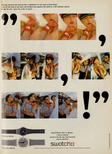 Swatch in i-D Issue 60, July 1988
