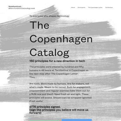 The Copenhagen Catalog