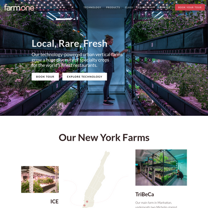 Farm.One: Technology-Powered Vertical Farms for Specialty Produce