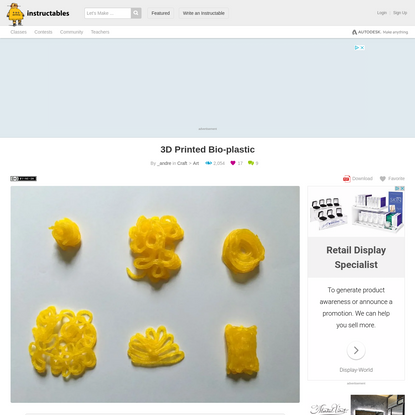 3D Printed Bio-plastic