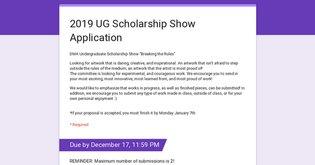 2019 UG Scholarship Show Application