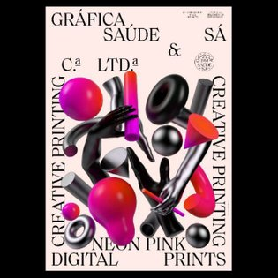 Poster design for @graficasaudesa for their new Neon Pink digital printing service. A collaboration with @oscar.maia.design ...