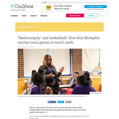 'Mathonopoly' and basketball: How this Memphis teacher uses games to teach math