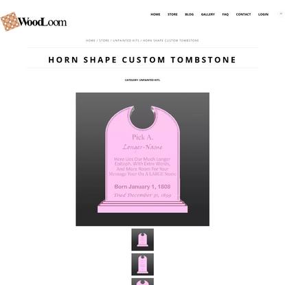 Standard Arch Top - Custom Foam Halloween Tombstone
