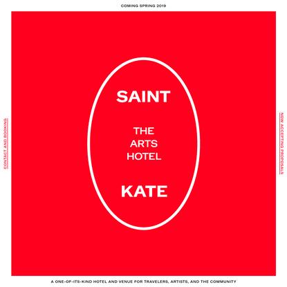 Home | Saint Kate - The Arts Hotel