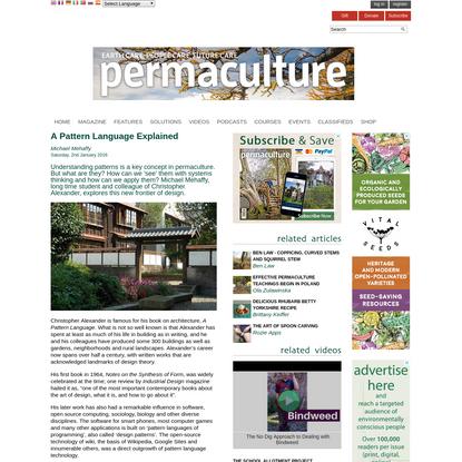 A Pattern Language Explained   Permaculture magazine