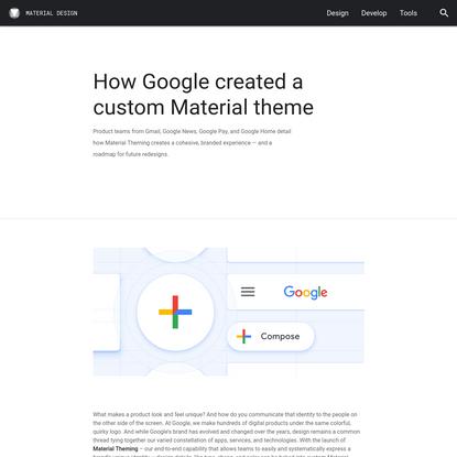 How Google created a custom Material theme
