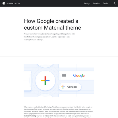 How Google created a custom Material theme