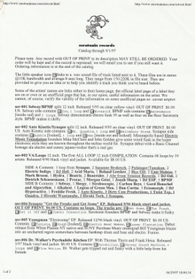 Seratonin Records catalog printout 1997
