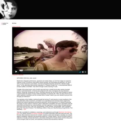 UbuWeb Film & Video: Ant Farm - Media Burn (1968-1978)