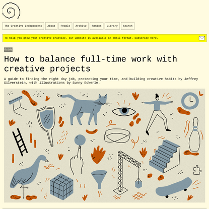 How to balance full-time work with creative projects – The Creative Independent