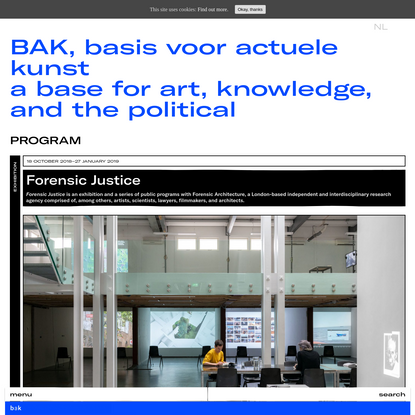 BAK, basis voor actuele kunsta base for art, knowledge, and the political