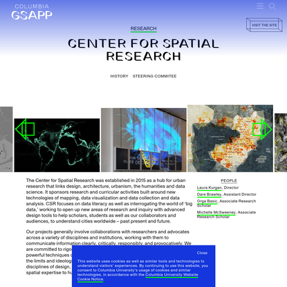Center For Spatial Research - Columbia GSAPP