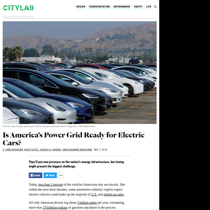 Is America's Power Grid Ready for Electric Cars?