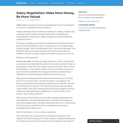 Salary Negotiation: Make More Money, Be More Valued | Kalzumeus Software