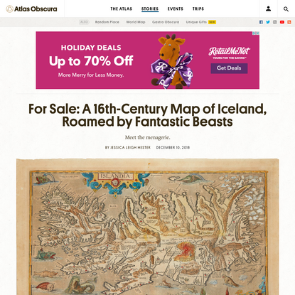 For Sale: A 16th-Century Map of Iceland, Roamed by Fantastic Beasts