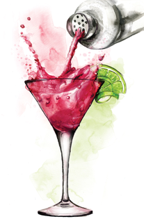 mavericks-cocktail-bar-illustrations-watercolor-graphic-cosmopolitan-watercolours-front-cover-illustrated-by-leona-beth.jpg
