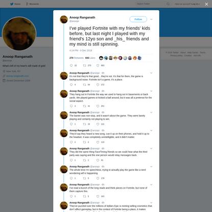 Anoop Ranganath on Twitter