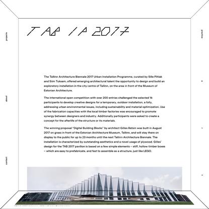 PART Architects | TAB IP 2017