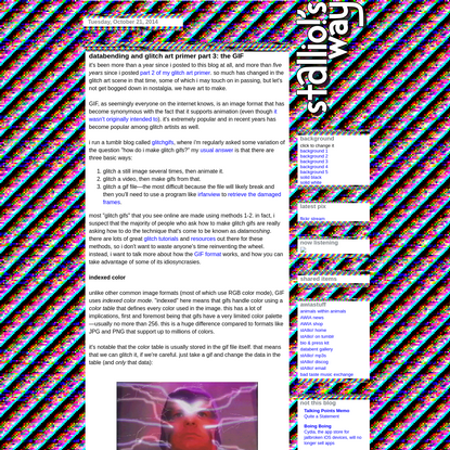 databending and glitch art primer part 3: the GIF