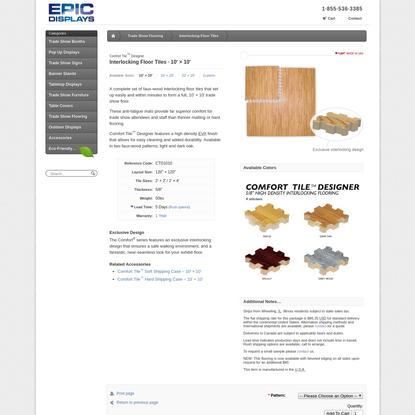 Comfort Tile Designer - Interlocking Floor Tiles - 10' x 10' Flooring - Epic Displays