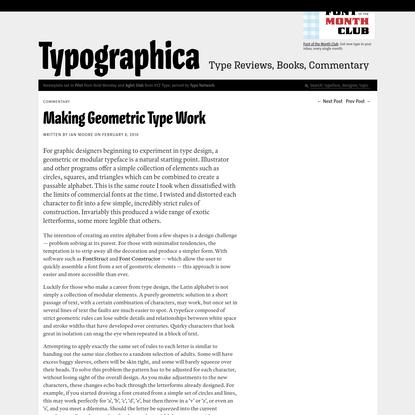 Making Geometric Type Work