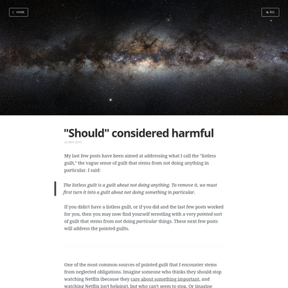 """""""Should"""" considered harmful"""