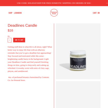 Deadlines Candle