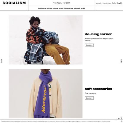 Slam Jam's online store. Clothing and attitudes for the global underground. - Slam Jam Socialism