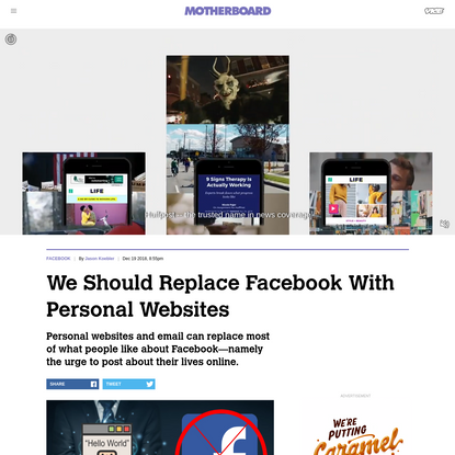 We Should Replace Facebook With Personal Websites - Motherboard