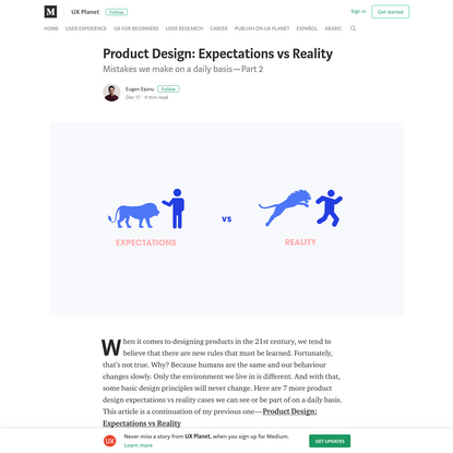 Product Design: Expectations vs Reality - UX Planet