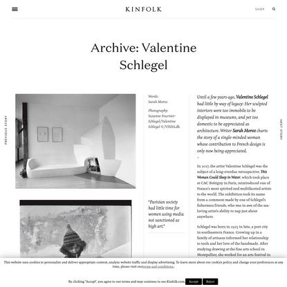 Archive: Valentine Schlegel