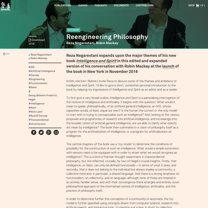 Reengineering Philosophy - Urbanomic