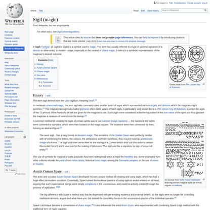 Sigil (magic) - Wikipedia