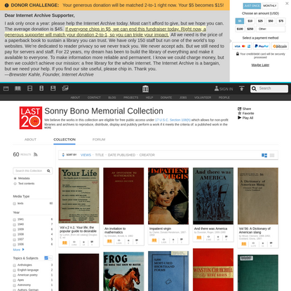 Sonny Bono Memorial Collection : Free Texts : Free Download, Borrow and Streaming : Internet Archive