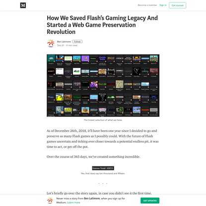How We Saved Flash's Gaming Legacy And Started a Web Game Preservation Revolution