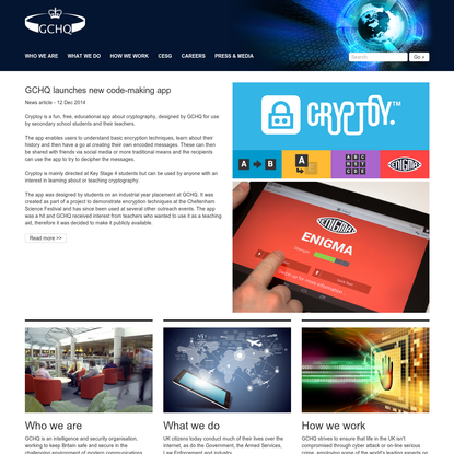 GCHQ Home page