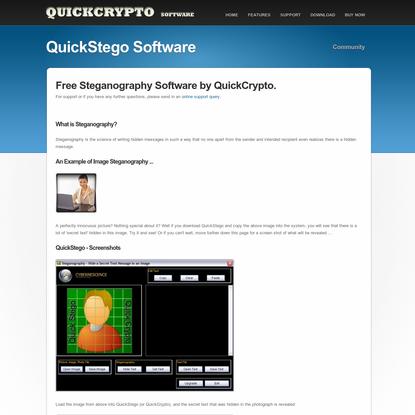 QuickStego - Free Steganography Software