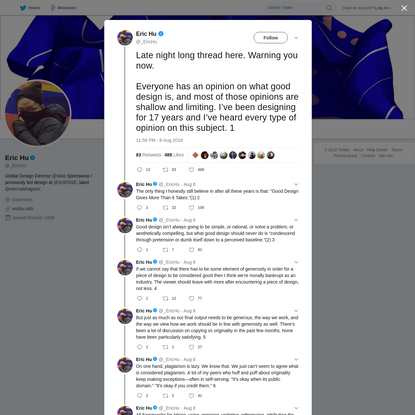 Eric Hu on Twitter