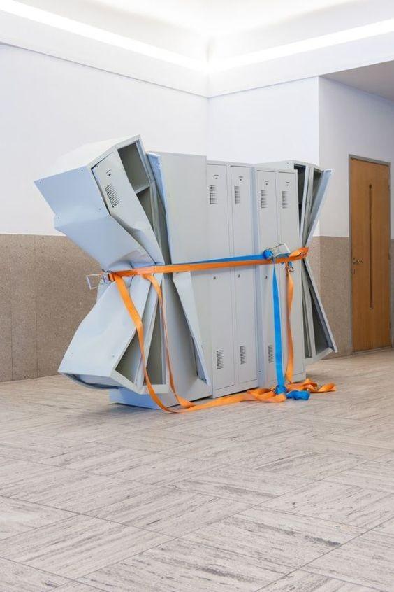 Matias Faldbakken: Untitled (Locker Sculpture #2), 2011