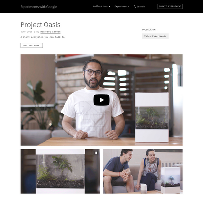 Project Oasis by Harpreet Sareen | Experiments with Google