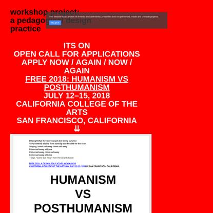 workshop project: a pedagogical graphic design practice