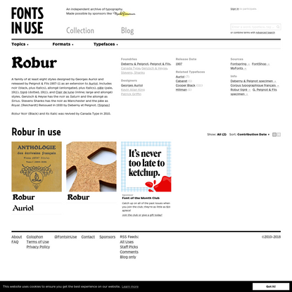 Robur in use - Fonts In Use